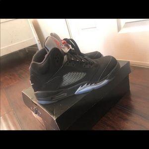 Metallic Jordan 5's